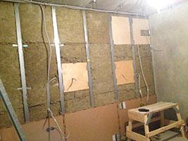 стенка и материалы для звукоизоляции