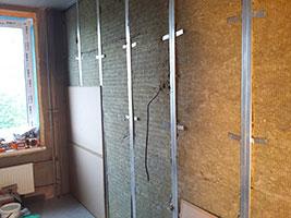стена в звукоизоляционных панелях