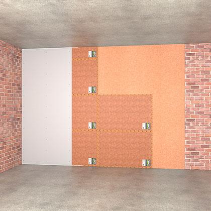 Бескаркасная технология звукоизоляция стены эконом