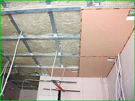 Звукоизоляция потолка под чистовую отделку
